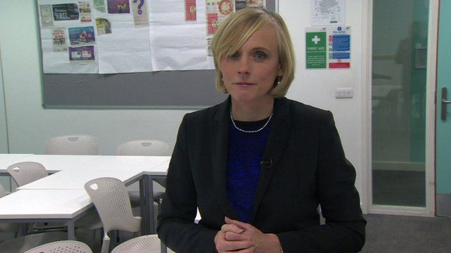 Gillian Hargreaves in a school