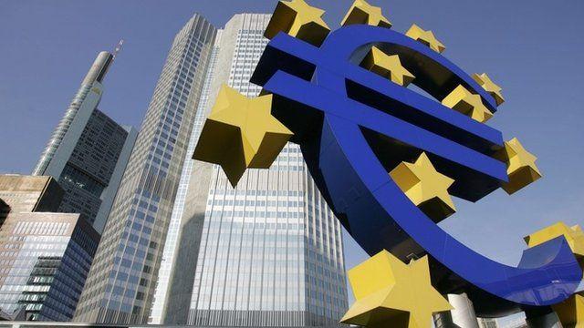 Euro sign outside the ECB