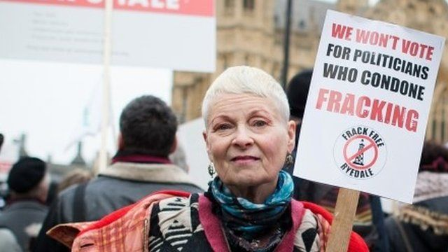 Vivienne Westwood at anti-fracking rally