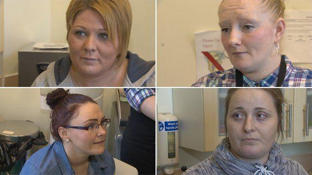 Pamela, Josephine, Lorraine and Leanne