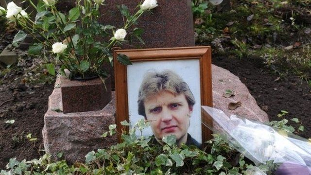 Grave of Alexander Litvinenko in Highgate cemetery, London