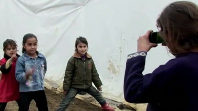 Child taking photo