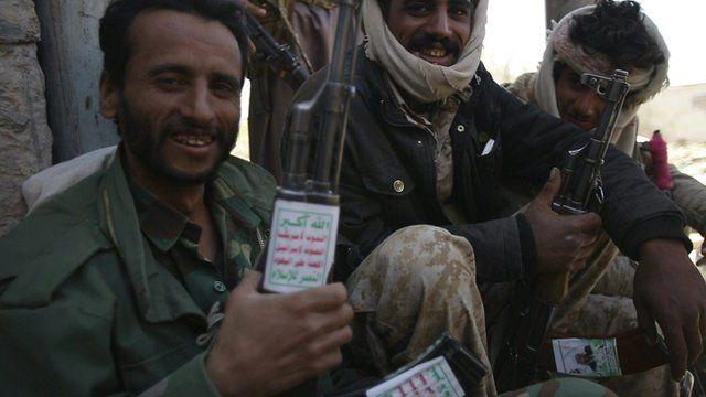 Houthi fighters in Yemen