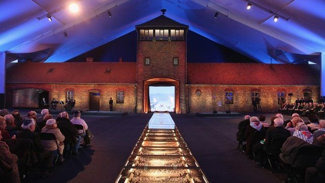 The original entrance gate to the former Auschwitz-Birkenau concentration camp