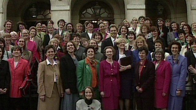 Labour's women MPs in 1997