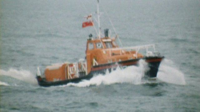 RNLI lifeboat in Donaghadee