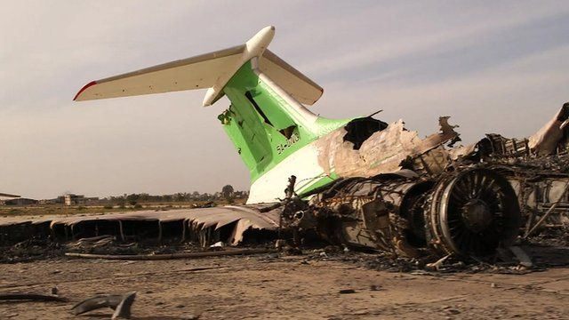 Tripoli Airport devastation