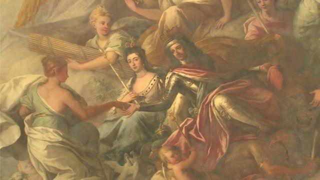 Ceiling Painted Hall of the Old Royal Naval College in Greenwich