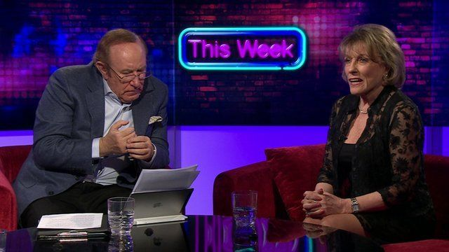 Andrew Neil and Esther Rantzen