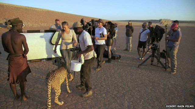 Filming in Namibia