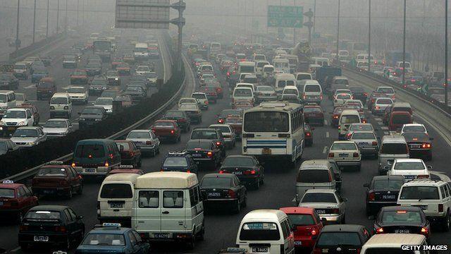cars on Beijing highway