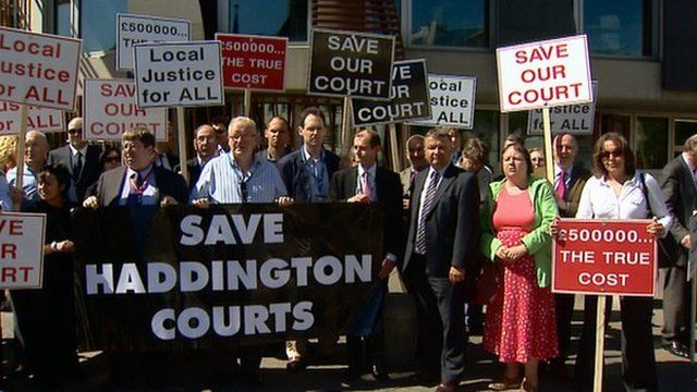Court closure protest at Holyrood