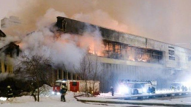 Blaze at the Institute of Scientific Information on Social Sciences, 31 Jan