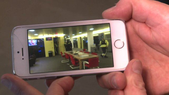A journalist at NOS filmed the incident on his phone