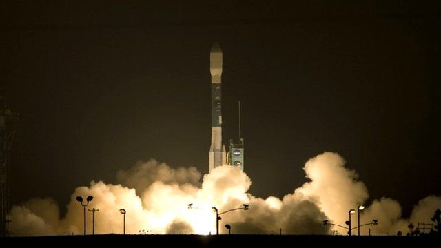 Nasa launches its first Earth-observing satellite
