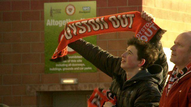 Blackpool fans demo