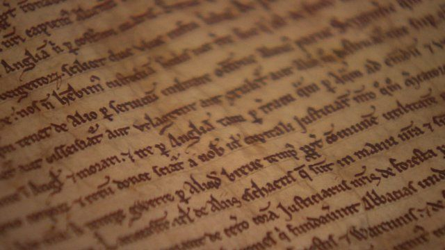 One of the remaining Magna Carta copies