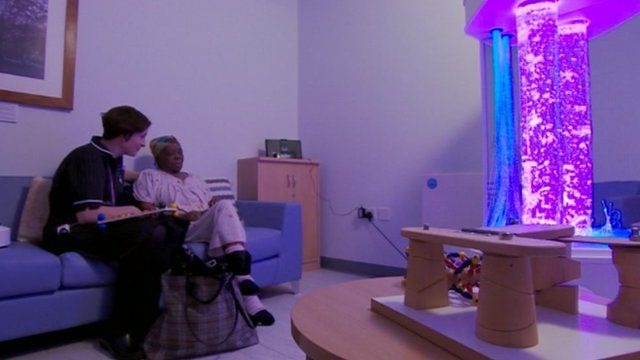 Relaxation room at New Cross Hospital, Wolverhampton