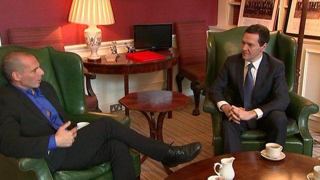 Yanis Varoufakis and George Osborne