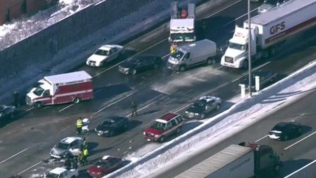 Pile-up in Chicago