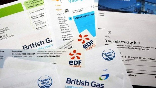 Energy bills from different suppliers