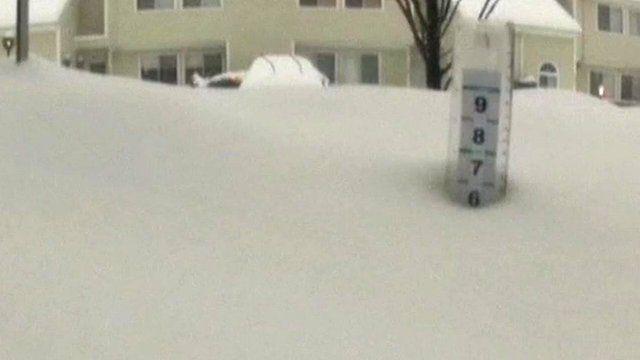 Snow in Poughkeepsie, New York