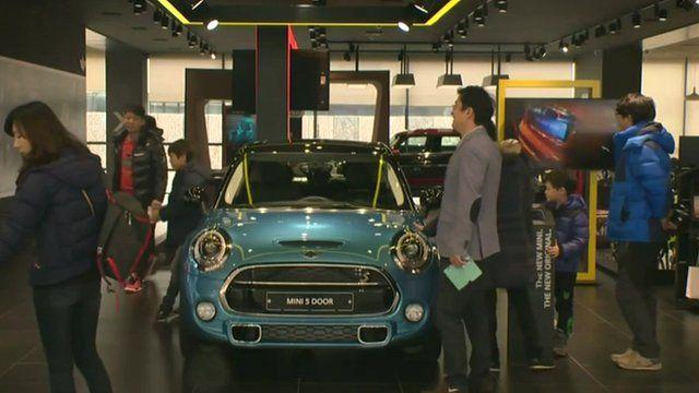 Car showroom in Korea
