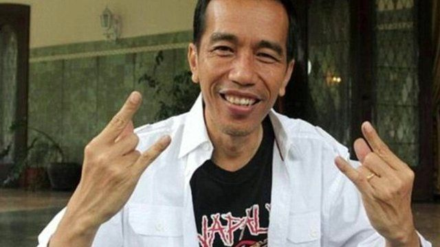President Joko Widodo wearing Napalm Death t-shirt