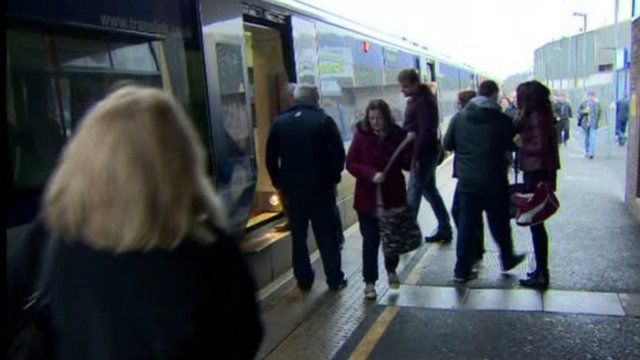 Train passengers are being transferred to substitute bus services, as Aileen Moynagh reports