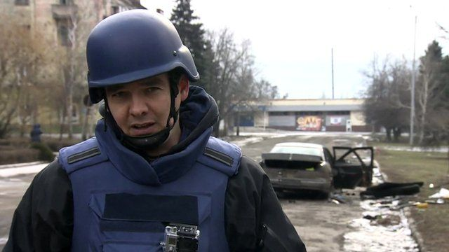James Reynolds reports from the embattled town of Debaltseve