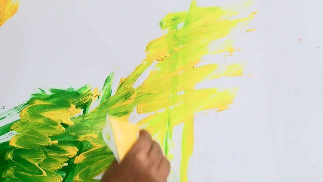 Green and yellow paint