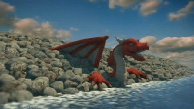 Dragon in lagoon - artists image of tidal lagoon