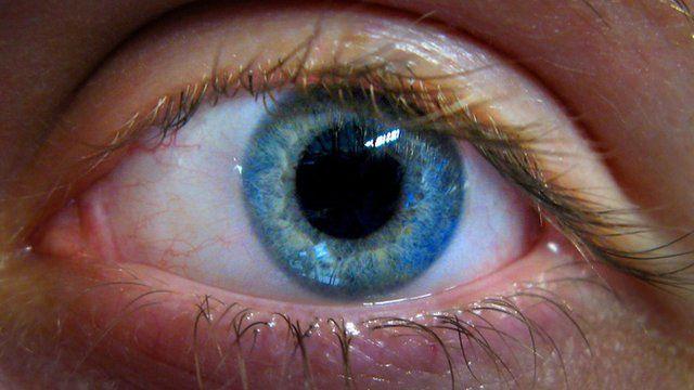 A close-up of a human eye