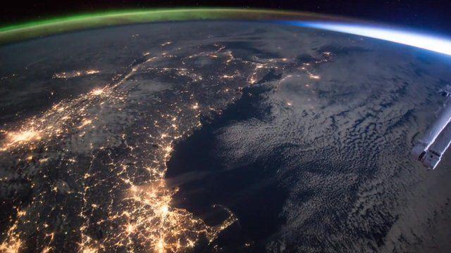 Northern Lights touching sunrise