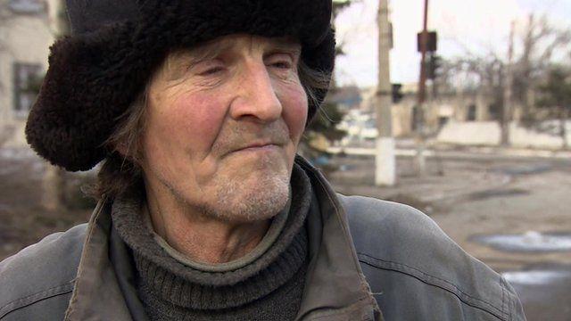 Civilian inside Vuglegirsk