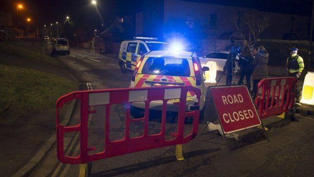 Police at Bath crash site