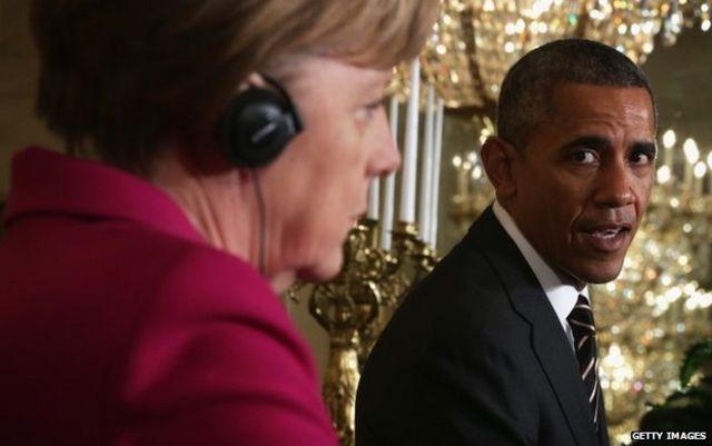 Merkel speaks softly, Obama holds a stick