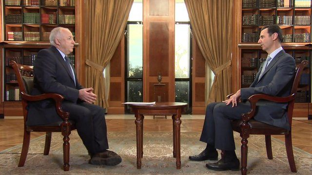 Syria conflict: BBC exclusive interview with President Bashar al-Assad