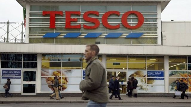 Tesco sales return to growth for first time in a year, survey suggests