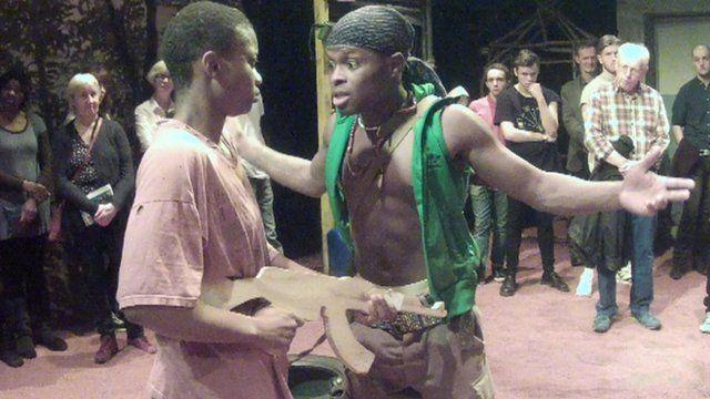 A scene from 'Liberian Girl'