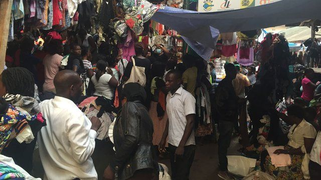 Kampala second-hand clothes market