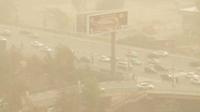 Sandstorm in Egypt