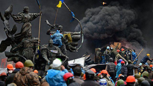 Maidan protestors 20 February 2014