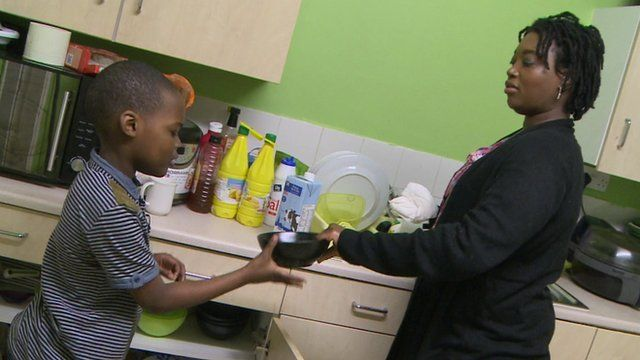 Bradwin is a young carer, and he is helping his mum.
