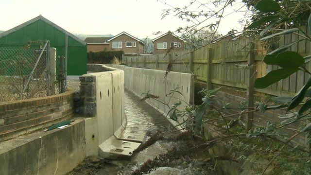 Flood alleviation work