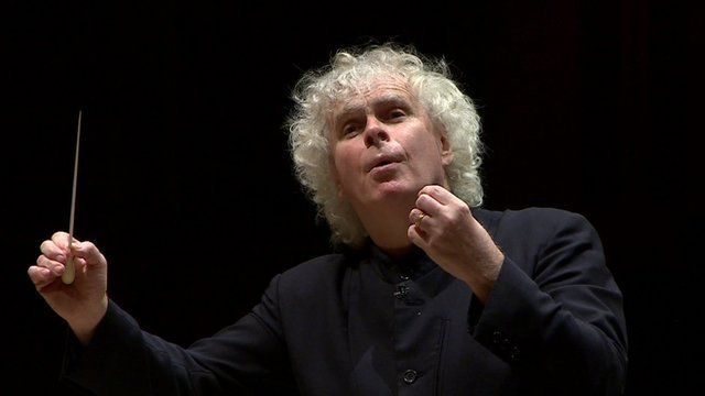 Sir Simon Rattle, one of the world's most eminent conductors