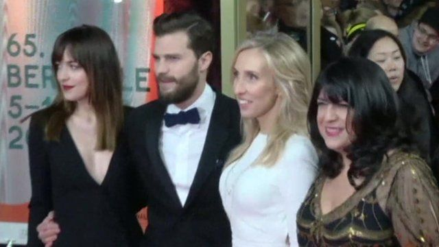 Stars Dakota Johnson and Jamie Dornan appeared on the red carpet, along with EL James and Director Sam Taylor-Johnson.