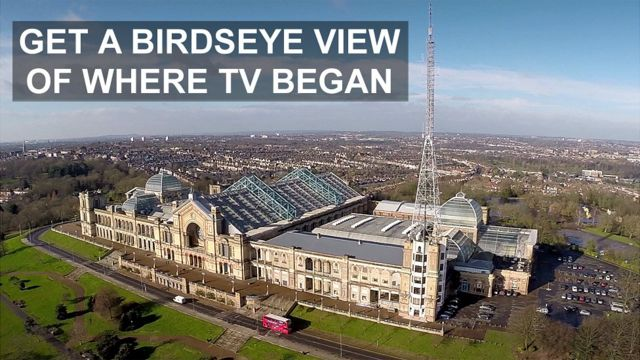 Aerial view of Alexandra Palace