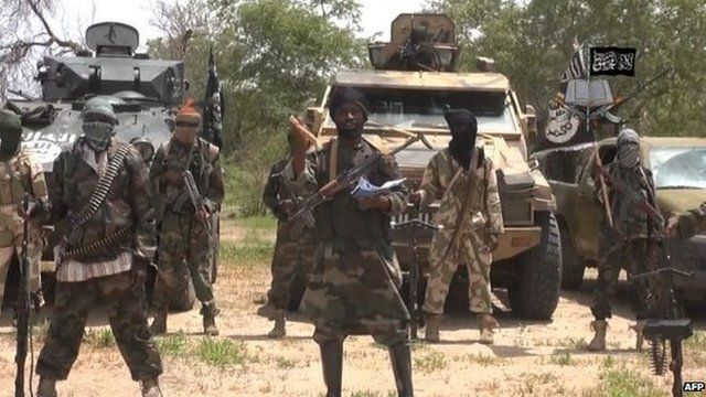 Screen grab from Boko Haram video