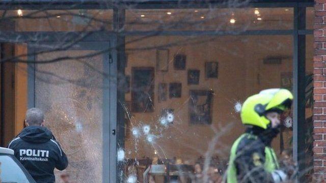 Bullet holes in window